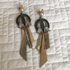Art Deco/Metal Drop Earrings
